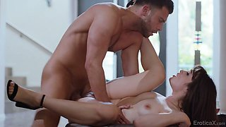 Naturally stuck sexy cowgirl Liv Wild deserves some good doggy fuck