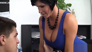 Sexy Horny Mature Boss Lady Gets Banged Out