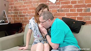 Step niece Gretta allows old uncle to penetrate fresh yummy pussy
