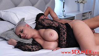 Busty Big Ass Latina Blonde MILF Dasha Sodomized by a Young Guy in Her Sleep