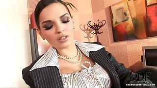 Eve Angel Plays Sexy Secretary