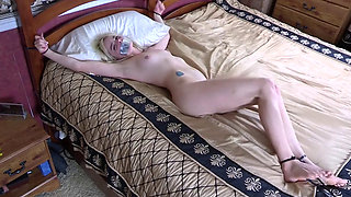Blonde Bitch Kidnapped and Bed Bound by Zip Ties