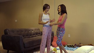 Sweet Alex More enjoys sharing a thick dick with Cadey Mercury