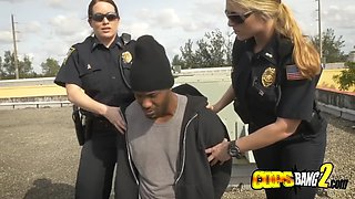 Black dude gets fucked outdoors by fake cops during a cop reality show just for fun. join us now