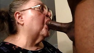 Granny gagged deepthroat