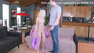 Small Blonde Teen Step Sister Fucked By Step Brother After Catching Her Humping Teddy Bear