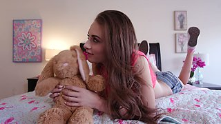 Huge stepbrother's cock is everything lustful teen Kyler Quinn desires every day