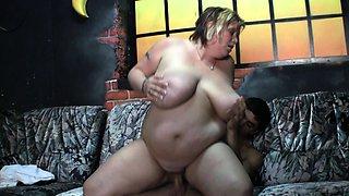 Massive tits plumper rides his boner
