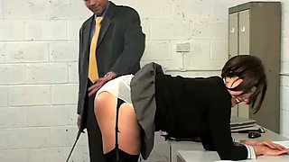 Spanking office angel
