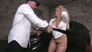 Lewd breast bondage and horny mouthfuck are prepared for busty Katy Jayne