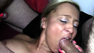 german hardcore creampie and cum swapping gangbang party