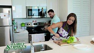 FamilyStrokes - Cheating Latina Stepmom And Son