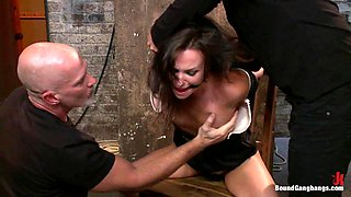 Hot Wife is Kidnapped Bound Fucked and Finished off with Anal Creampie