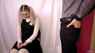 Teacher Punishes Schoolgirl With Spanking and Deepthroat!