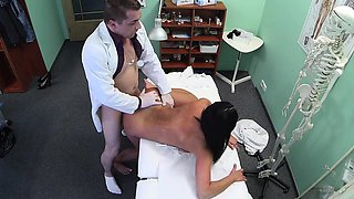FakeHospital Hot black haired mom cheats on hubby