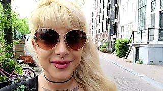 Katerina Kalista tattoos herself then masturbates