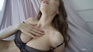 Sexy babe mila azul reveals her perfect pussy for nudex