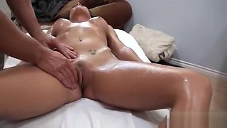 Capri Cavalli is back for another massage. part 3