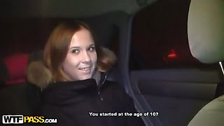 Hot car sex with anal creampie