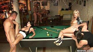 Pool Hall Orgy Junkies