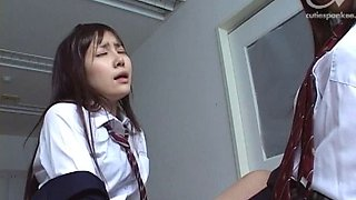 Japanese roommates have lesbian fun