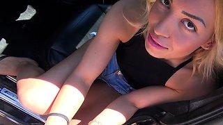 German hitchhiker teen must do anal - she dislike