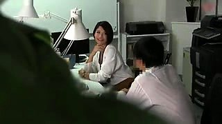 Sensuous Japanese milf enjoys a wild fucking in the office