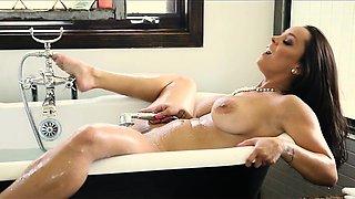 French Sexy Mom Seduced In Rose Petal Bath