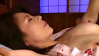 JAV Stepmom cheating with son right next to her old husband