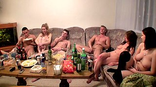 Czech students staged an fuckfest at the party