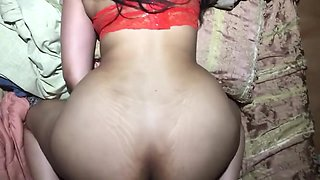 CUM ALL OVER MY STEPSISTER'S ASS WHILE MOM WAS AWAY!!!