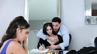 Naughty Teen Sofie Reyez Lets Stepbrother Use Her Holes