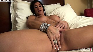 Hot Italian Plays with Her Big Clit