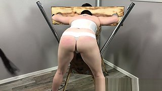 BDSM Housewife Restrained - Punished - Begs to Cum FUCK MACHINE SQUIRTING