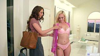 Russian Lesbian Model Elena Koshka Licks Pussy & Ass
