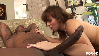 Hot White Freak Riding a Big Black Dick