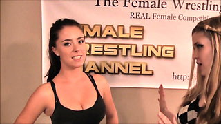 #55 The Black Swan! Scarlett vs Foxy Female Wrestling