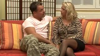 German milf vivia big tits stockings