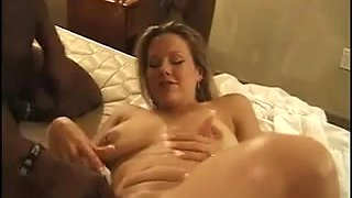Wench wife banged by darksome chaps in hotel squirting