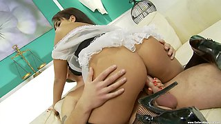 sexy housemaid Valery Summer gets her pussy pounded by her boss