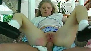 Babysitter Gets Fucked By Infantile Men