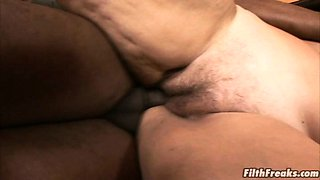 Granny gets fucked by a massive cock!