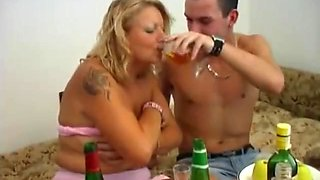 Drunk with his stepmom