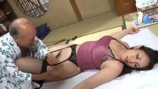 Anna Moriyama fucked with old men