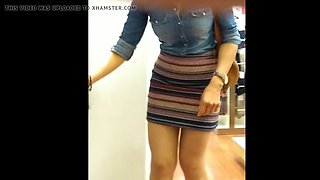 Delicious milf short dress
