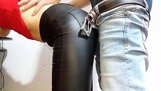 My leather leggings turned him on
