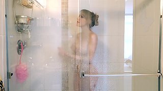 POV Experience Morning Shower and Hard Fuck - Katie Banks