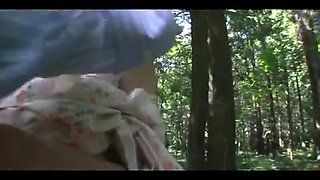 46yr old Yoko Ogino Creampied in the Woods (Uncensored)