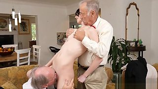Old Guys play with Sexy Amateur