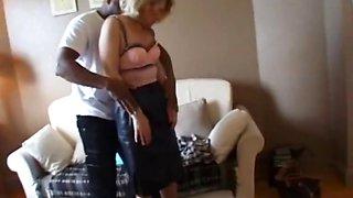 Sandra a wife of a doctor fucked by 2 blacks cocks